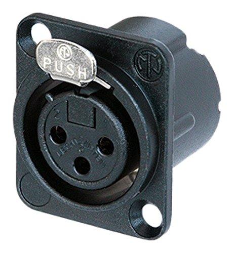 Neutrik NC3FD-LX-BAG XLR Kabelverbinder (30-80 °C, Schwarz, IP40, IEC 61076-2-103) 34.8030