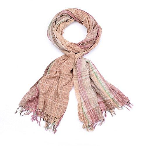 StyleBREAKER rayures colorées modèle de foulard à carreaux avec une frange, homme 01018075, couleur:multicolore/modèle-6