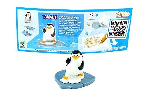 Kinder Überraschung, Private con folleto de los pingüinos Madagascar.