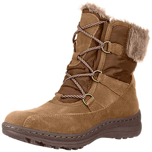 BareTraps Womens Aero Suede Ankle Winter Boots Tan 6 Medium (B,M)