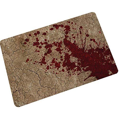 Sccarlettly Halloween Blood Footprint Badematte Farbwechsel Blatt Wird Rot Nass Machen Sie Blutende Fußabdrücke Anti Rutsch Badezimmermatten 45X70Cm 18X28Inches Braun (Color : Braun, Size : Size)