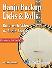 Banjo Backup Licks & Rolls Book with Video & Audio Access
