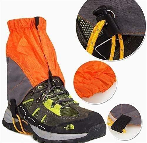 CFHY Hiking Gaiters Waterproof Ankle Gaiters Low Gators Boots Orange Snow Gaiters Lightweight Leg Gaiters for Climbing Hunting Mountain Snow Walking Trekking Hiking 828