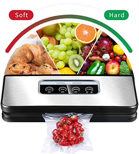 Vacuum Sealer Machine, Winjoy Automatic Food Sealer for Food Savers|Starter Kit|Touch Pannel and LCD...