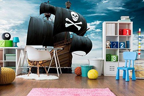 Fotomural Vinilo Pared Barco Pirata Realista   Fotomural para Paredes   Mural   Vinilo Decorativo   Varias Medidas 100 x 70 cm   Decoración comedores, Salones, Habitaciones.