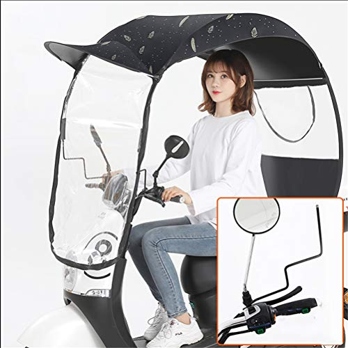 GFYWZ Universal Motorrad Regenschirm Sonnenschutz Regenschutz Auto Motor Roller Wasserdicht Regenschirm,1,B