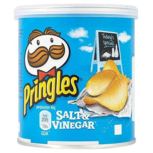 Pringles - Salt & Vinegar (40 g) - Packung mit 6
