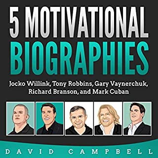 5 Motivational Biographies audiobook cover art