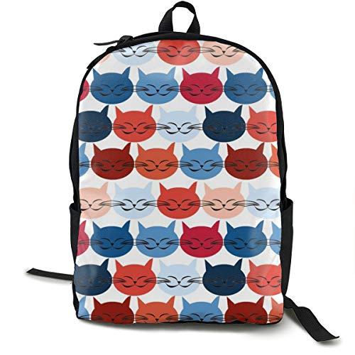 Klassischer Rucksack, Chat Est TOI Le Chat Bleu legere Schultasche große Kapazität Neuheit Laptoptasche für Teenager Frauen Männer Reisen Wandern