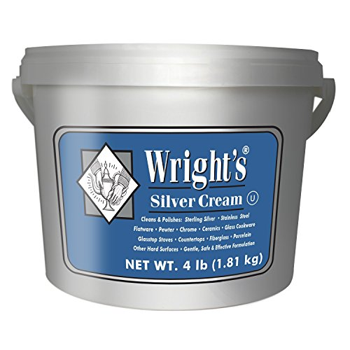 Wright's Silver Cleaner and Polish Cream - 4 Pounds - Ammonia Free - Gently Clean and Remove Tarnish Without Scratching