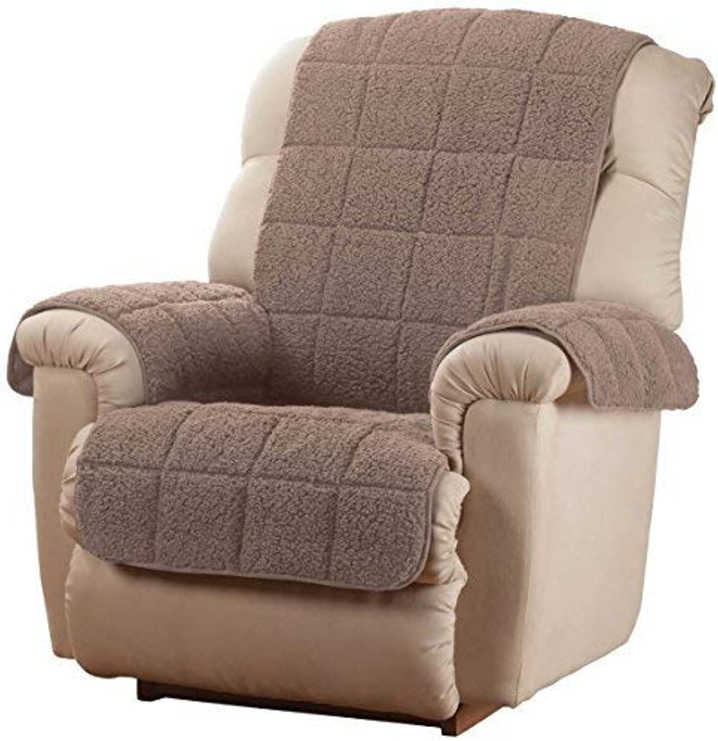 OakRidge Comforts Waterproof Quilted Sherpa Recliner Cover, Mocha