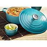 Le Creuset Signature Caribbean Enameled Cast Iron Round French Oven, 5.5 Quart