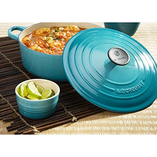 Le Creuset Enameled Cast Iron Signature Round Dutch Oven, 3.5 qt. , Caribbean