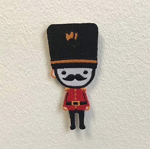 Parche bordado coser planchar diseño bigote Guardia
