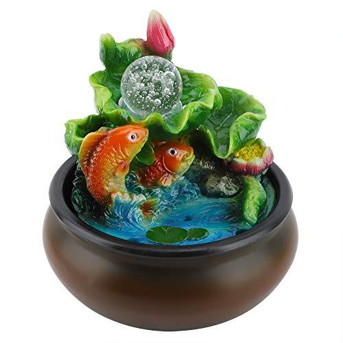 xiji Fuente De Mesa De Relajación, Feng Shui Zen Decoración De Escritorio De Oficina Lucky Fish para Dormitorio para Meditación
