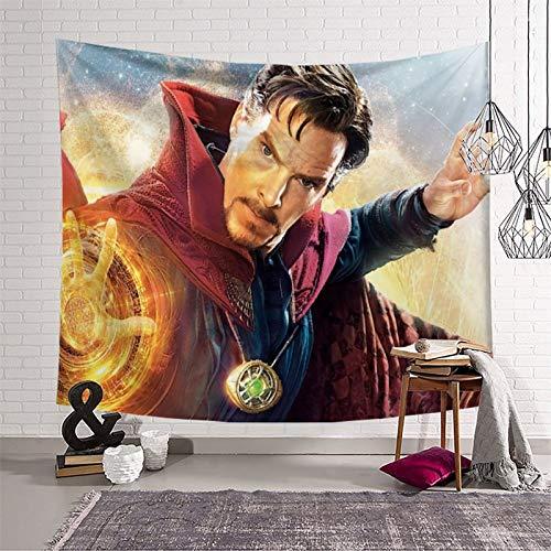 Decoración de sofá para sala de estar, dormitorio, sofá, película extraña, Steve Strange Benedict Cumberbatch, lienzo mágico para decoración del hogar, 230 x 180 cm