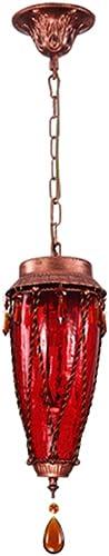 Cdbl-Plafonnier MultiCouleure Verre Restaurant Petit Lustre Corridor Retro Lampes Créatives E27 Lampe Port Plafonniers (Couleur   Rouge)