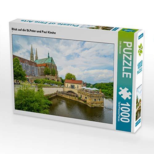 CALVENDO Puzzle Blick auf die St.Peter und Paul Kirche 1000 Teile Lege-Größe 64 x 48 cm Foto-Puzzle Bild von Dirk Meutzner