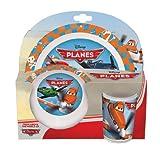 Joy Toy 736490 - Disney Planes 3-teilig Set, aus Melamin: 2 Teller und 1 Becher, 27 x 7 x 28 cm
