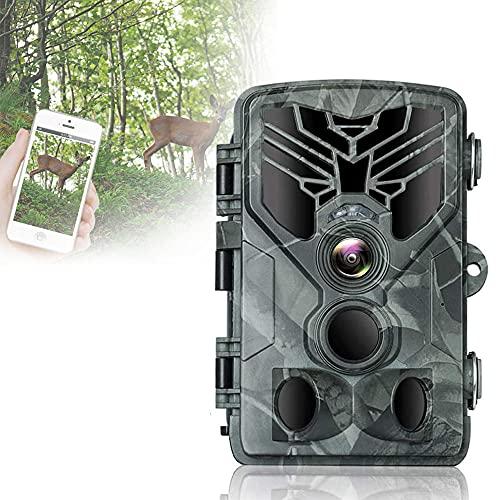 Camera Thermique, CaméRa De Chasse 24mp Surveillance 1080p HD éTanche Ip66 DéTection Thermique Vision Nocturne 36 Leds Infrarouges Angle 120 ° De Visionde Pour Observation D'Animaux Sauvages