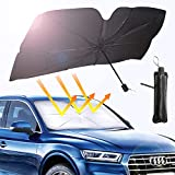 ALTOUMAN Car Windshield Sunshade - Car Umbrella Sunshade Cover UV Block Car Front Window (Heat Insulation Protection) Keep Your Vehicle Cool and Damage Free(Suitable for Most Vehicles 57' x 31')