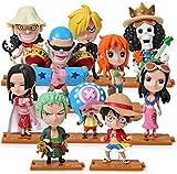 ZYBZGZ 10pcs / Set Japanese Anime Model One Piece Action Figure Collection Luffy Nami Dolls Toy para...