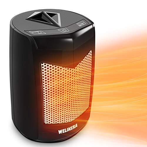 WELIKERA Calefactor Eléctrico -Calefactor Cerámico -Portáti, de Cerámica Personal de Aire Caliente con Oscilación Automática, Protección contra Sobrecalentamiento y Volcado, para Hogar y Oficina