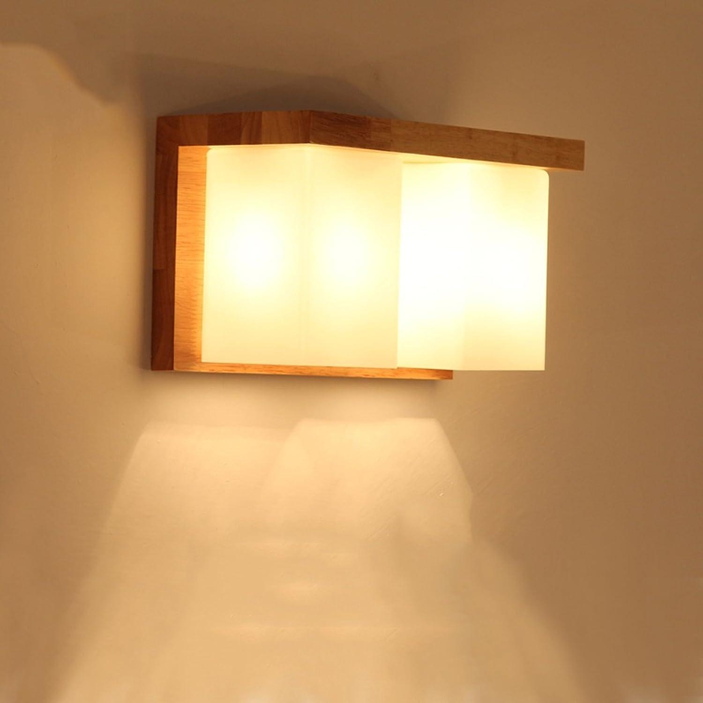 Unbekannt SKC Lighting-Wandlampe Nachttischwand Moderne, einfache Wandleuchte Massivholz-Wandleuchte
