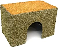 3 sizes available coated in meadow hay and completed with a real carrot roof a house...which small animals can eat Made from tough parchment board Boredom Breaker