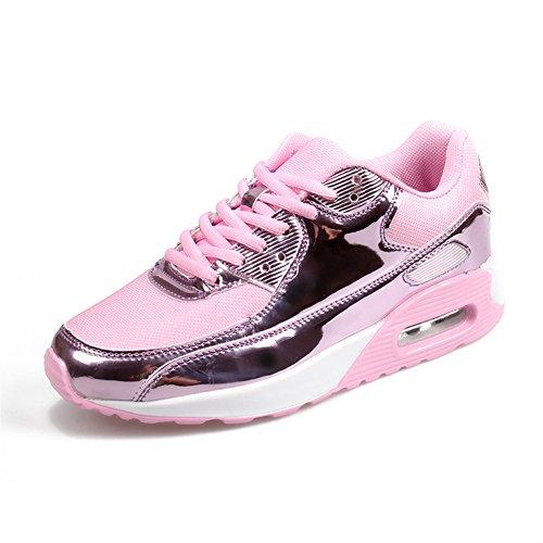 Hycomell Baskets Mode Femme et Homme Chaussures de Multisports Couples Sneakers pour Course Fitness Gym Athlétique Détente Baskets Loisir de Running Amortissement Antidérapant Ultra-léger 35-45 EU