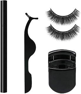2 Pairs Magic False Eyelashes Artificial Eyelashes Curler Liquid Eyeliner Pencil 2