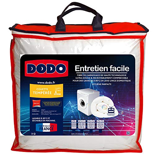 Dodo ENTRETIEN240 Couette, Enveloppe : 100% Polyester High...