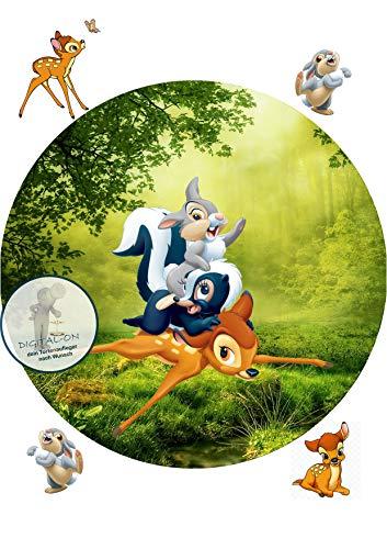 Bambi, Essbares Foto für Torten, Tortenbild, Tortenaufleger Ø 20cm - Super Qualität, 1143a