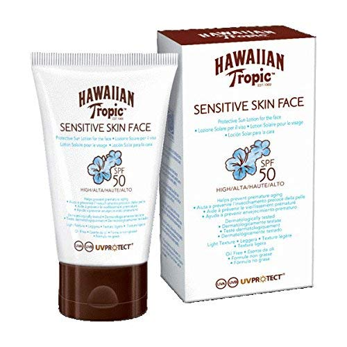 Hawaiian Tropic Sensitive Skin Face - Crema Solar para la