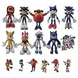 Modelo de estilo sónico Un conjunto de nueve figuras grandes + un conjunto de seis figuras pequeñas sonic supersonic mouse flying mouse juego modelo muñeca decoración cumpleañero