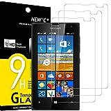 NEW'C 3 Stück, PanzerglasFolie Schutzfolie für Nokia Microsoft Lumia 435, Frei von Kratzern Fingabdrücken & Öl, 9H Festigkeit, HD Bildschirmschutzfolie, 0.33mm Ultra-klar, Ultrawiderstandsfähig