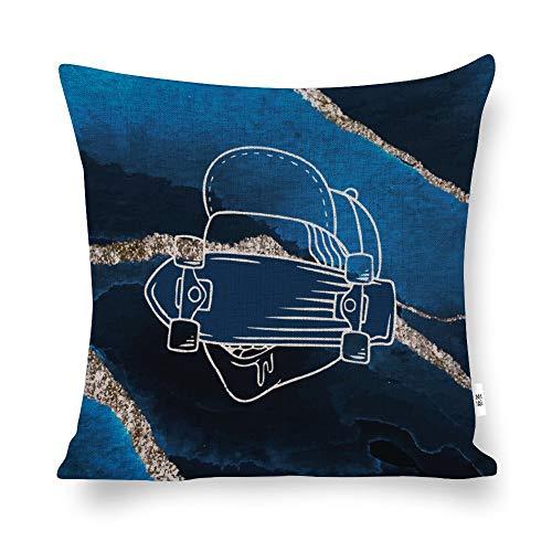 Funda de cojín Unknow, diseño de Alien Stealth de coche, color azul, funda de almohada decorativa para el hogar, para hombres, mujeres, niños, niñas, sala de estar, dormitorio, sofá, silla, funda de almohada de 45,7 x 45,7 cm