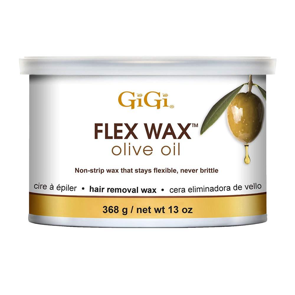 ヘッドレスメッシュ高くGiGi オリーブオイルフレックスワックス - 非ストリップ脱毛ワックス、13オンス 13オンス