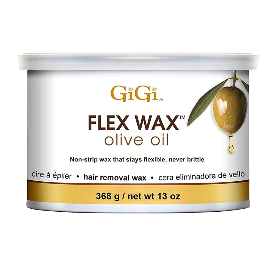 依存寝るコマンドGiGi オリーブオイルフレックスワックス - 非ストリップ脱毛ワックス、13オンス 13オンス