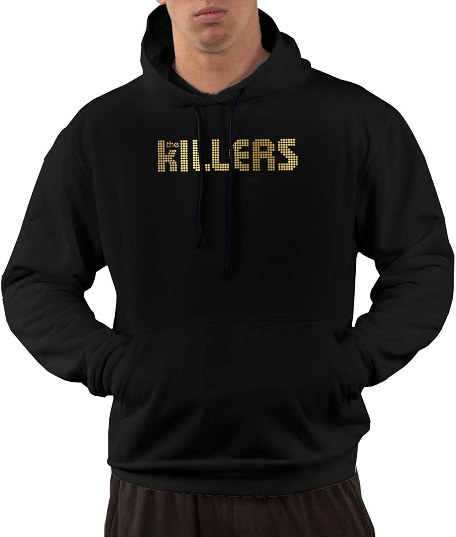 CarterH The Killers Logo Mens Hoodies Sweater with Pocket Black