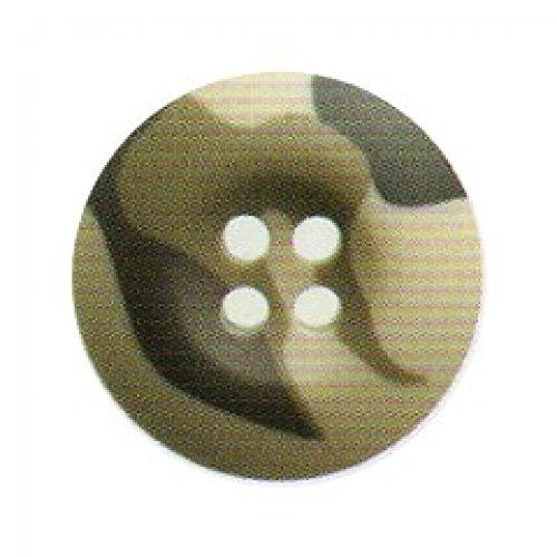 Ourlet rond Motif Camouflage Vert boutons 4 trous - 20 mm-Lot de 3