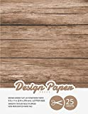 Brown Wood Flat Lay Scrapbook Paper: Decorative Scrapbooking Paper for Crafting, Card Making, Decorations, Collage, Printmaking, 8.5x11, 25 Pack, Wood ... Specialty Paper Pad (Stationery Paper)