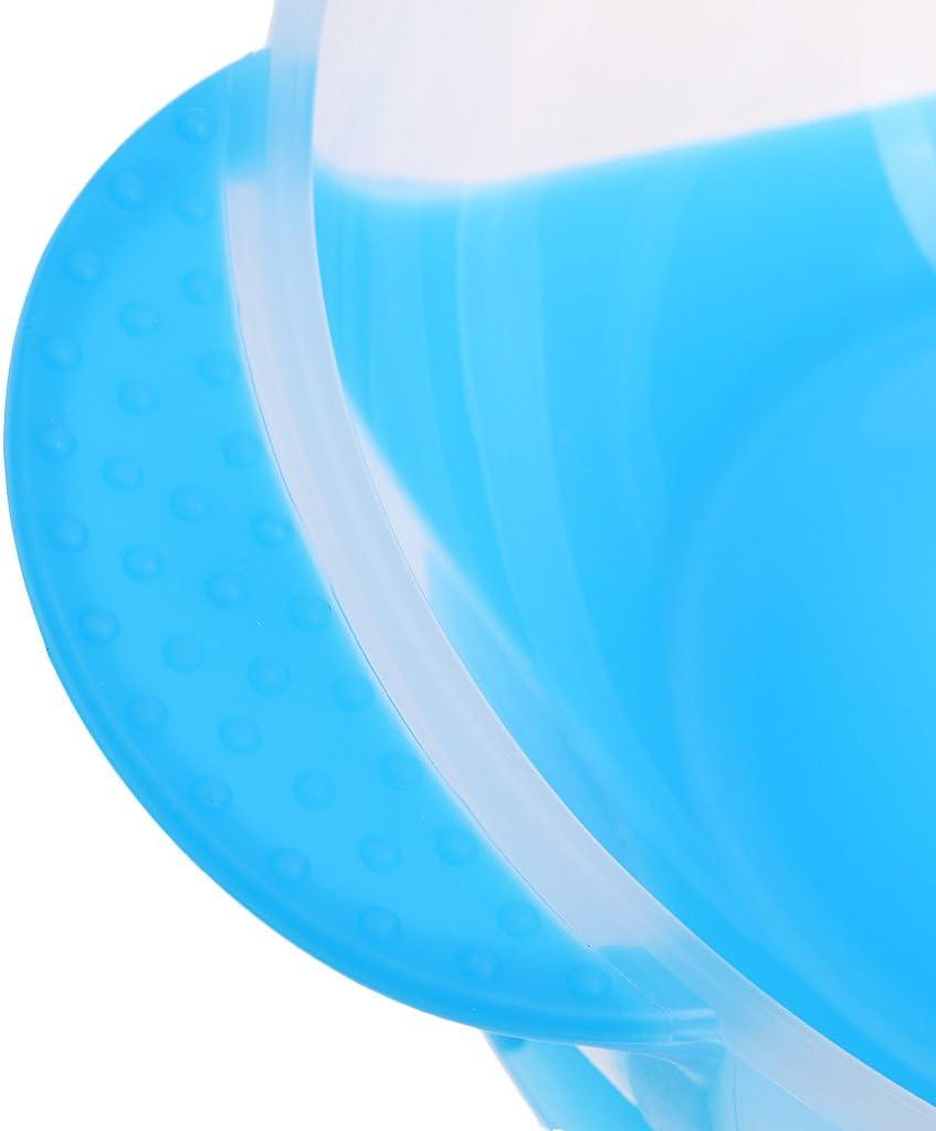 harayaa Set Stoviglie per Stoviglie con Ventosa Antigoccia per Neonati Temperatura Che Cambia Blu Taglia unica
