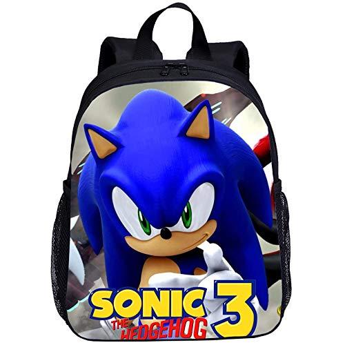 regalo para Mini mochila para niños, niñas, dibujos animados, Anime Sonic, impresión en 3D, mochila de jardín de infantes