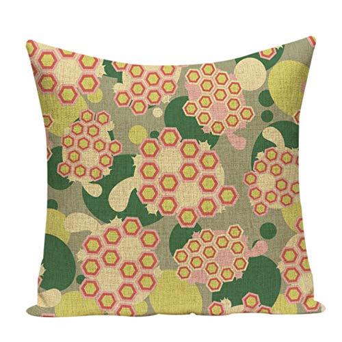 Flower Series Z-065 - Funda de cojín para sofá (45 x 45 cm), diseño floral