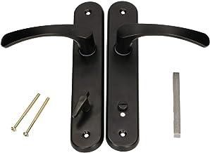 KOTARBAU® Deurkruk 72 mm links rechts WC zwart deurbeslag deurbeslag deurkruk deurkruk deurkruk krukgarnituur toiletdeur k...