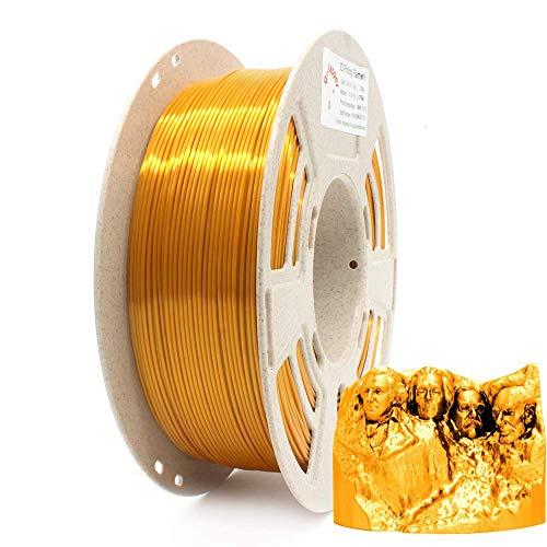 Reprapper Filamento Silk PLA 1.75 1kg para Impresión 3D, Seda PLA con Brillo Nacarado 1.75mm (± 0.03) para Impresora 3D, Dorado