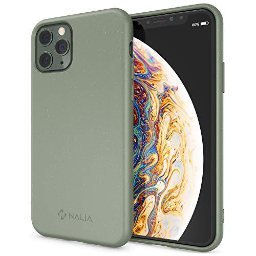 NALIA Bio Telefoonhoes compatibel met iPhone 11 Pro Hoes, Biologisch afbreekbaar & Duurzaam Milieuvriendelijk Mobiele Rugbeschermer, Natuurlijke Plant Gebaseerd Vegan Plastic-Free Bumper, Zero Waste, Olijfgroen