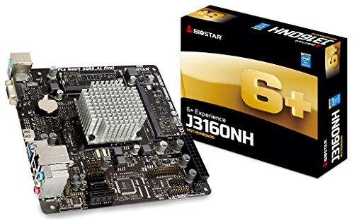 Biostar J3160NH Mainboard (Mit Celeron J3160, 2,24Ghz, DualCore, mITX, DDR3)