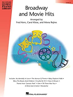 BROADWAY AND MOVIE HITS LEVEL 5 BOOK ONLY HLSPL (Hal Leonard Student Piano Library)